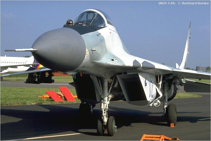 MiG-29 Fulcrum-A - Modex 'Blue 10' - Soviet Air Force - Farnborough ...